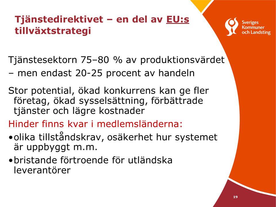 Tjänstedirektivet – en del av EU:s tillväxtstrategi