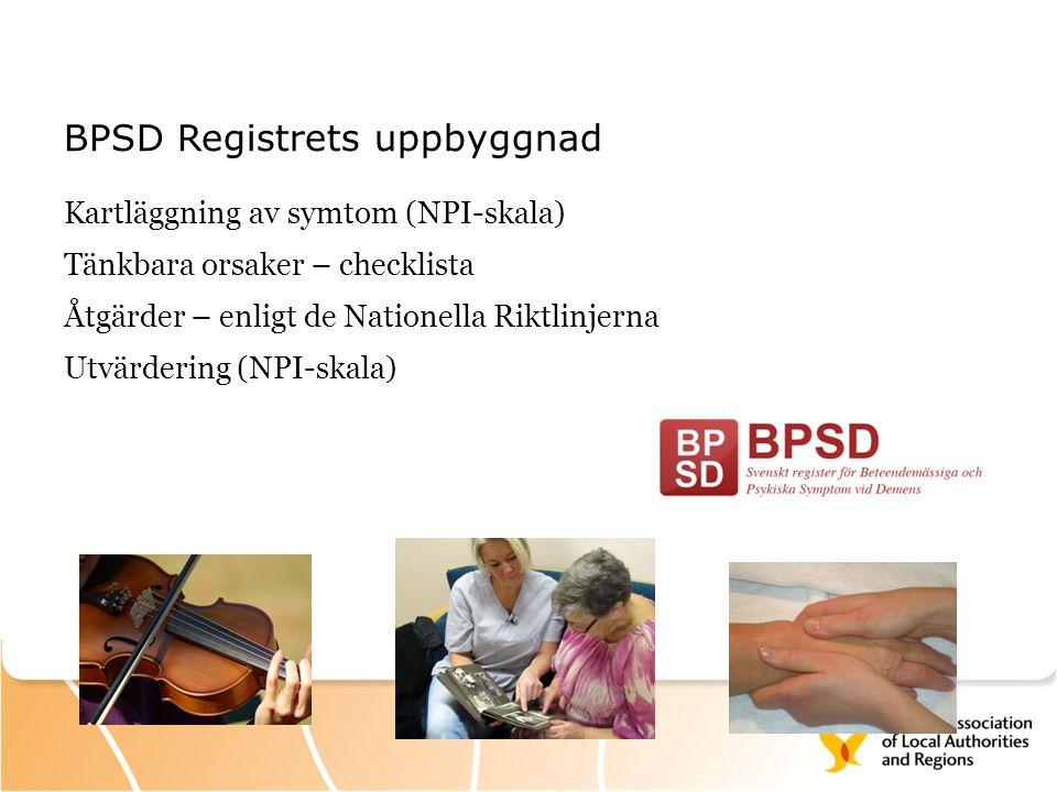 BPSD Registrets uppbyggnad