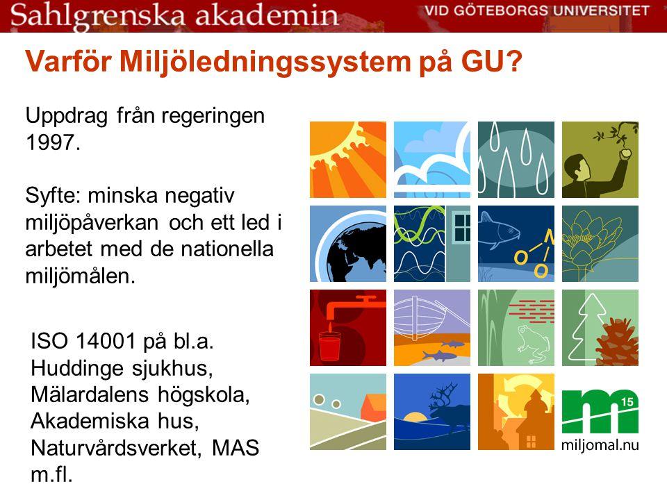 Varför Miljöledningssystem på GU