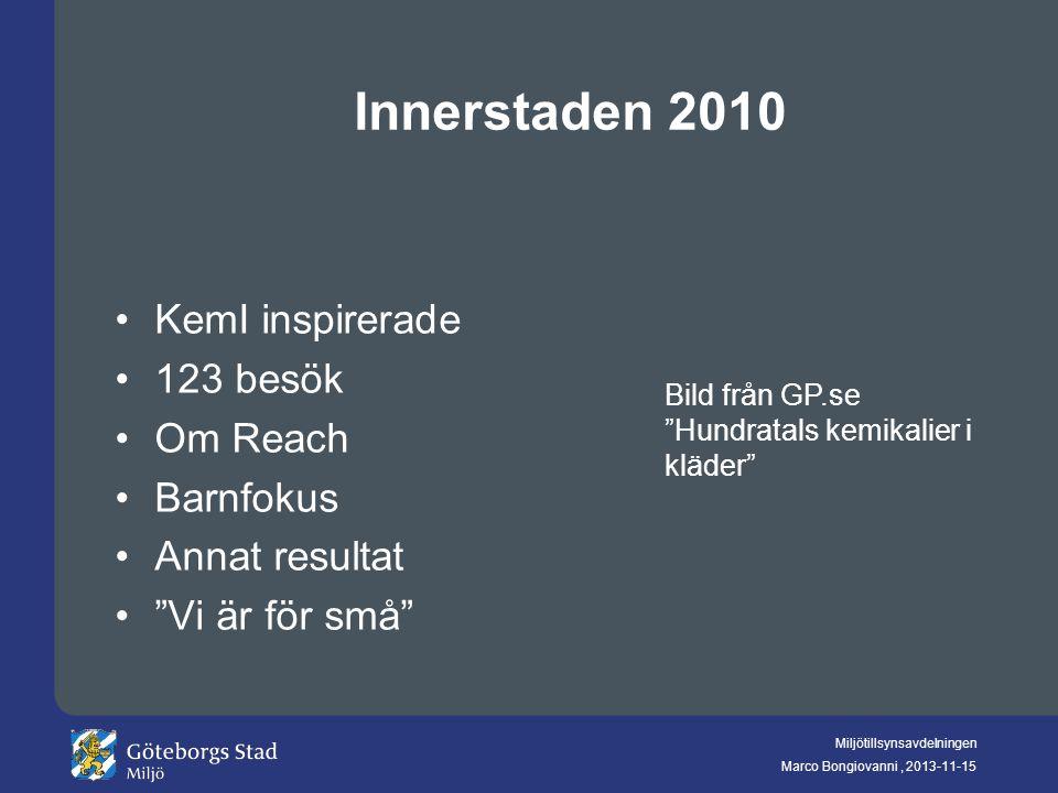 Innerstaden 2010 KemI inspirerade 123 besök Om Reach Barnfokus