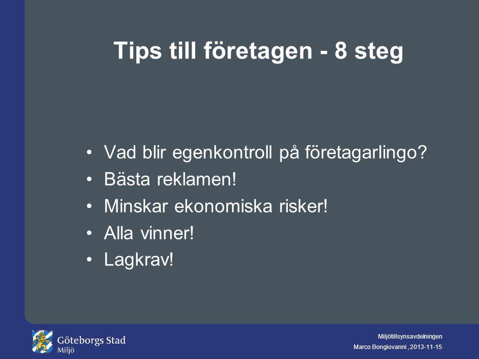 Tips till företagen - 8 steg