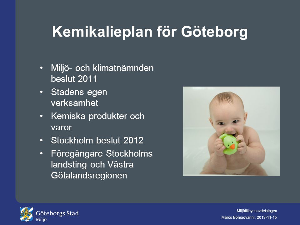 Kemikalieplan för Göteborg