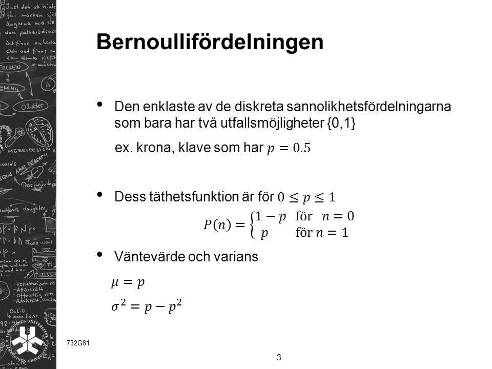 Bernoullifördelningen