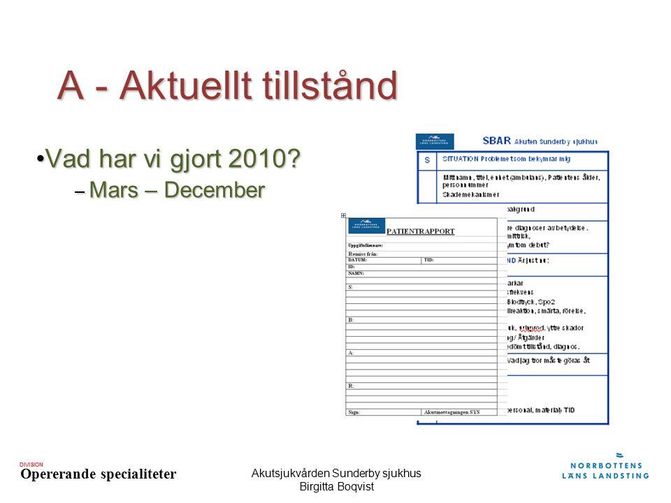 Akutsjukvården Sunderby sjukhus Birgitta Boqvist