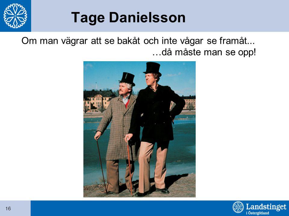 Tage Danielsson Om man vägrar att se bakåt och inte vågar se framåt...