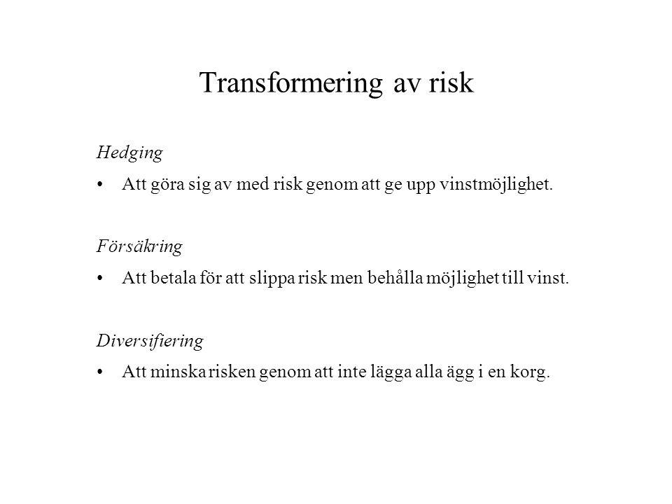 Transformering av risk