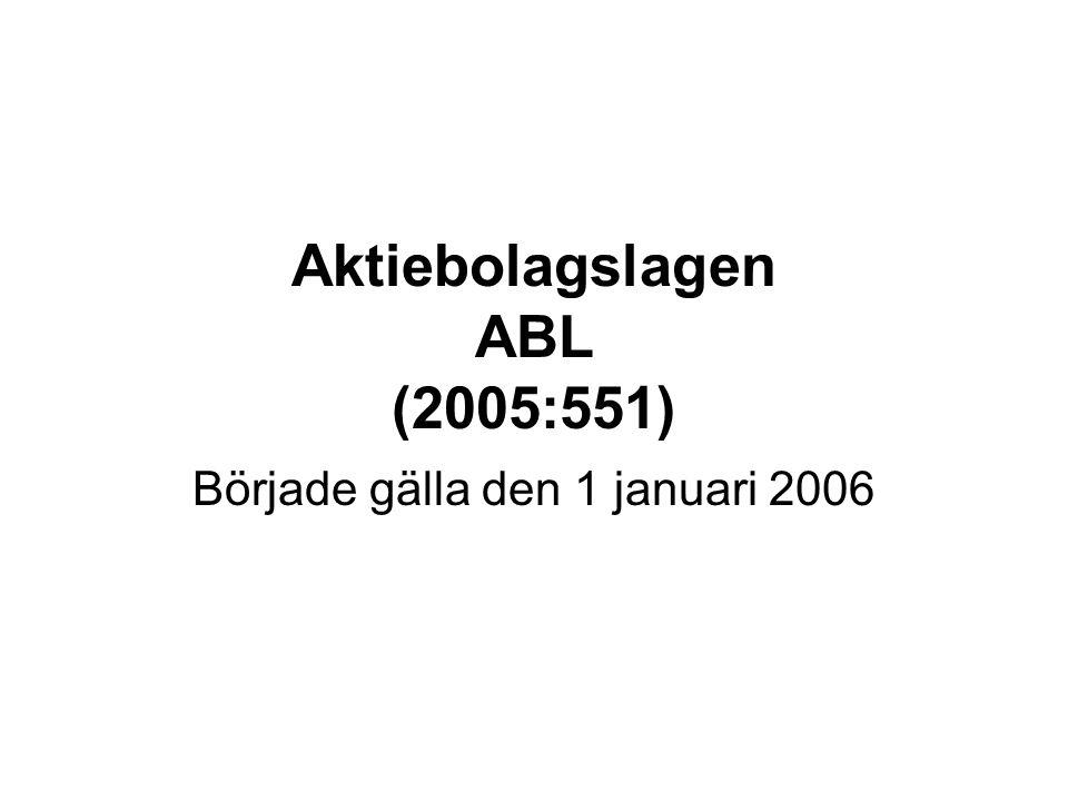 Aktiebolagslagen ABL (2005:551)