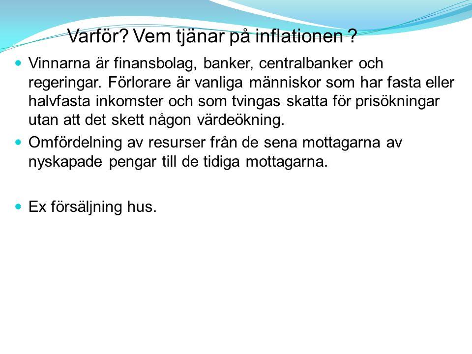 Varför Vem tjänar på inflationen