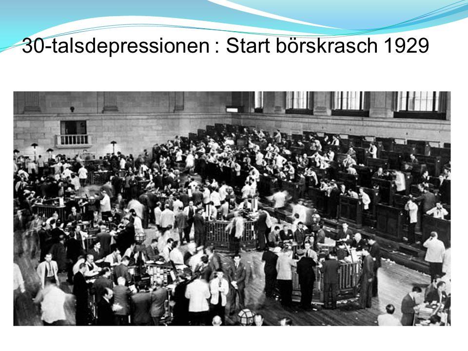 30-talsdepressionen : Start börskrasch 1929