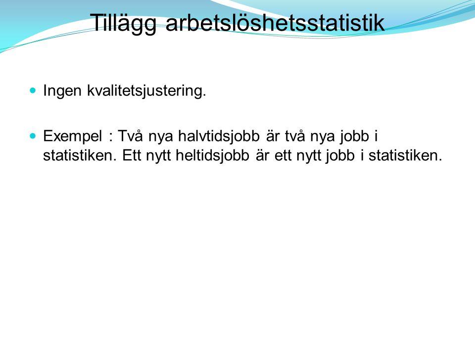 Tillägg arbetslöshetsstatistik