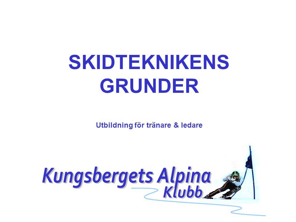 SKIDTEKNIKENS GRUNDER Utbildning för tränare & ledare
