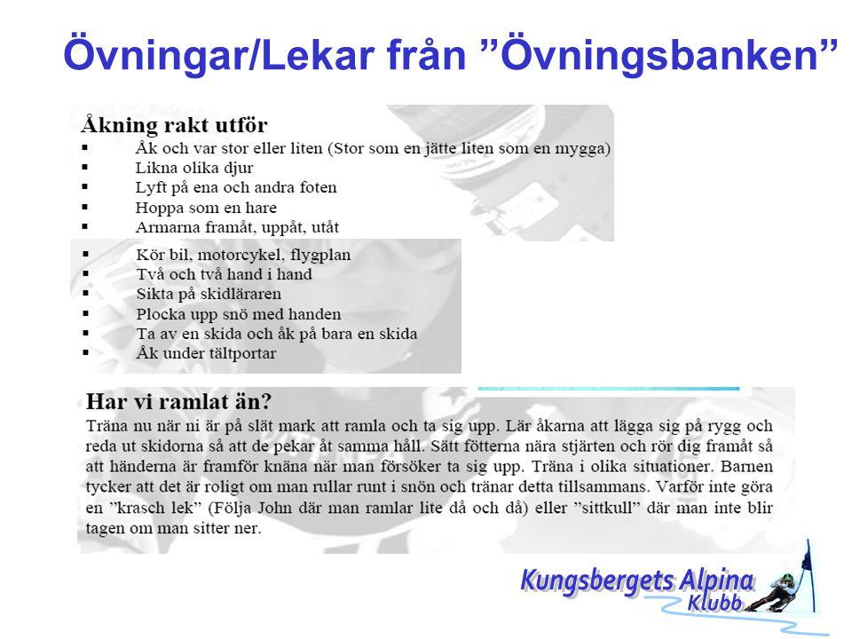 Övningar/Lekar från Övningsbanken