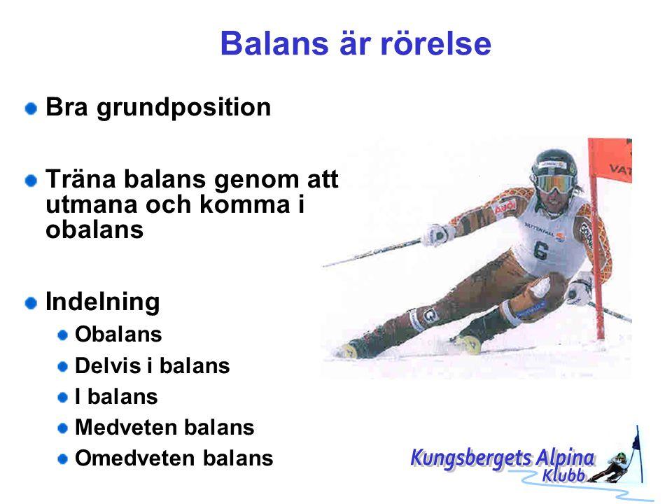 Balans är rörelse Kungsbergets Alpina Bra grundposition