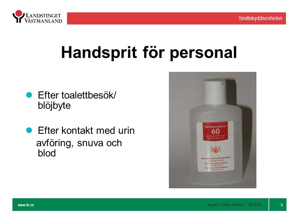 Handsprit för personal