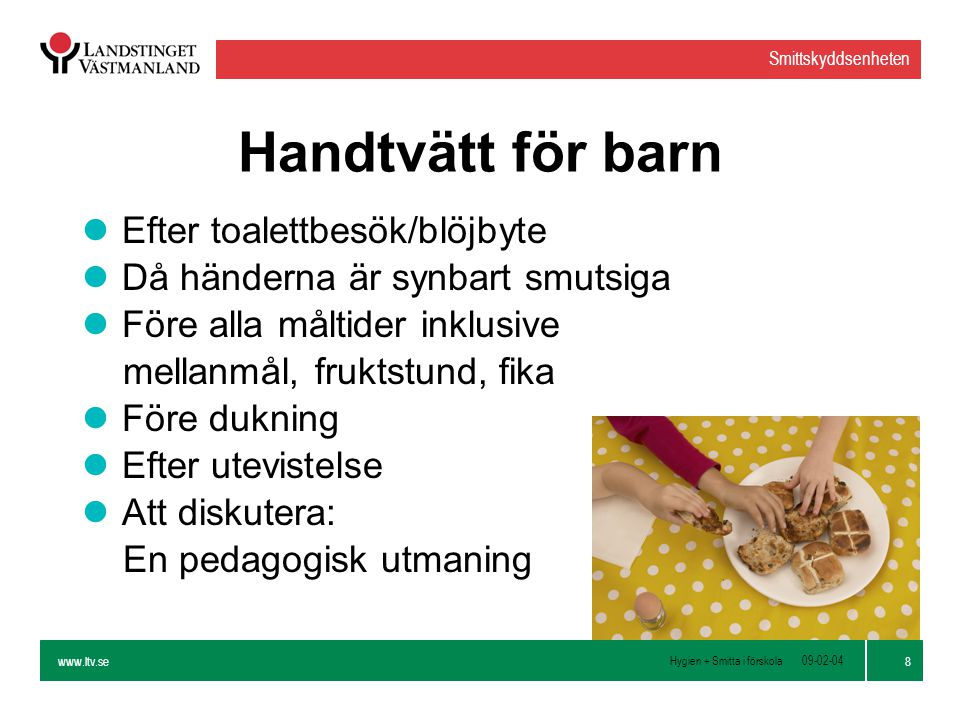Handtvätt för barn Efter toalettbesök/blöjbyte
