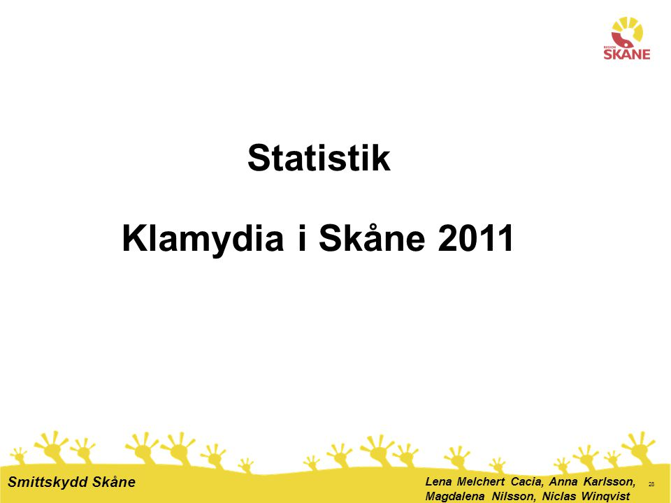 Statistik Klamydia i Skåne 2011