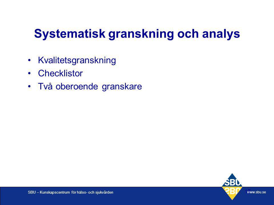 Systematisk granskning och analys