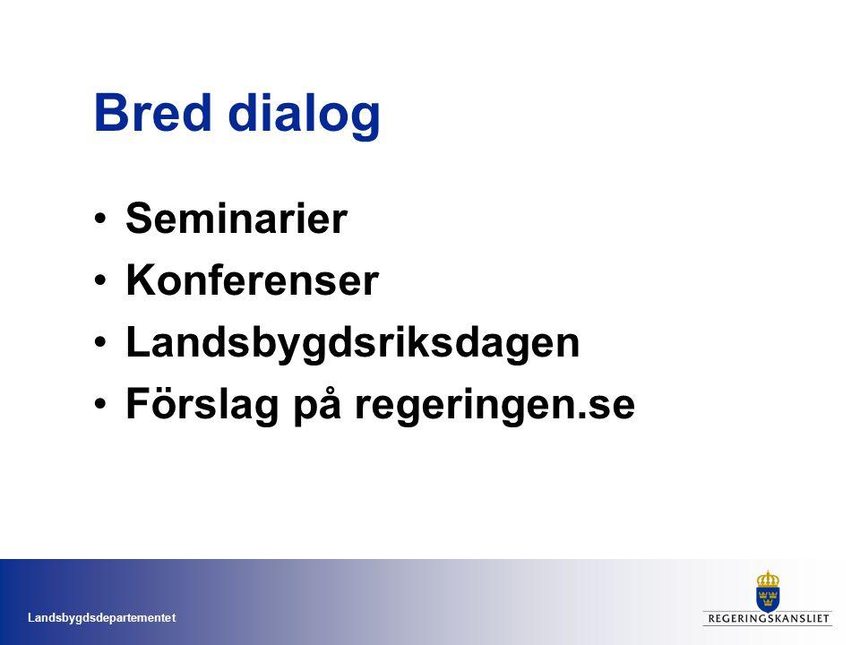 Bred dialog Seminarier Konferenser Landsbygdsriksdagen