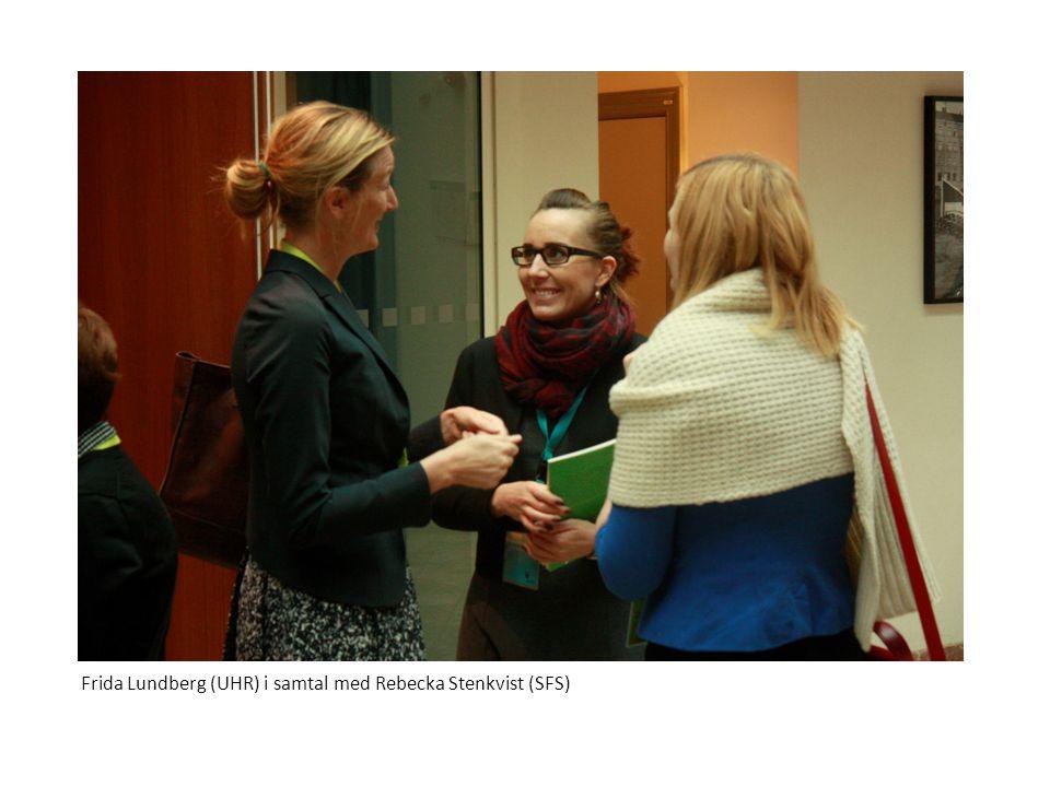 Frida Lundberg (UHR) i samtal med Rebecka Stenkvist (SFS)