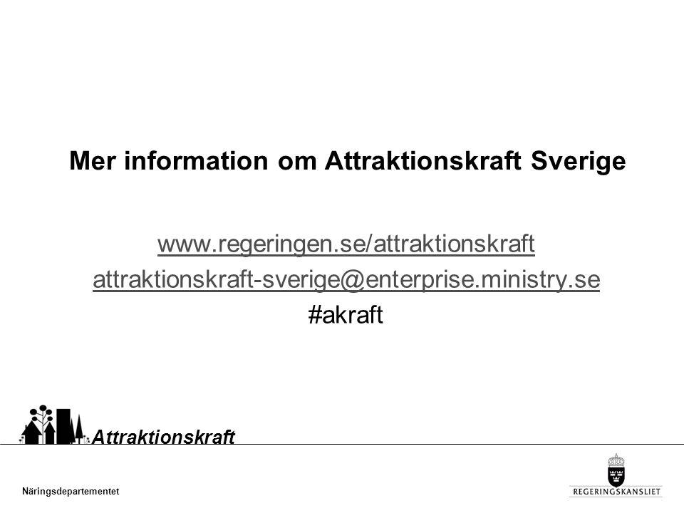 Mer information om Attraktionskraft Sverige