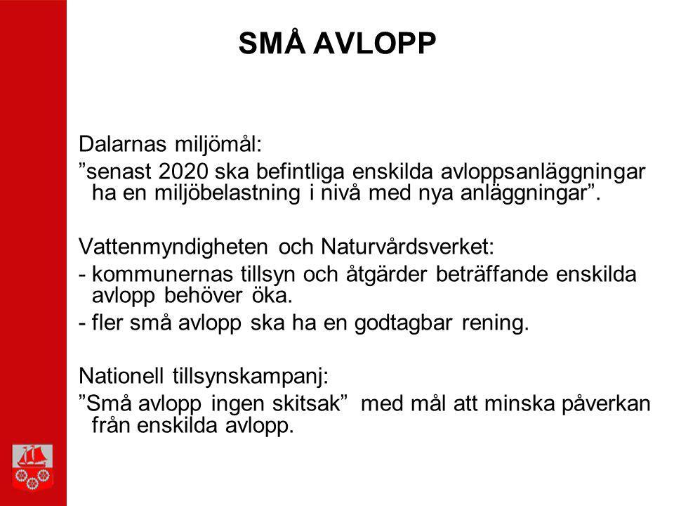 SMÅ AVLOPP Dalarnas miljömål: