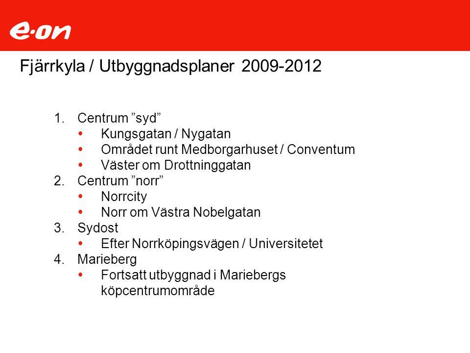 Fjärrkyla / Utbyggnadsplaner 2009-2012