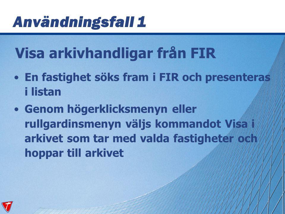 Visa arkivhandligar från FIR