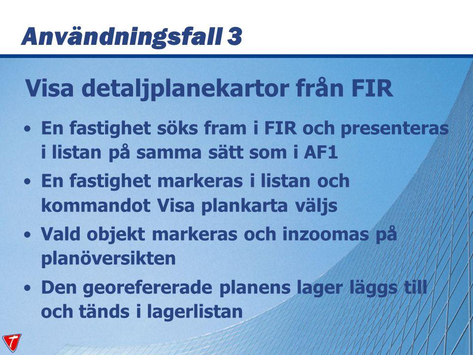 Visa detaljplanekartor från FIR