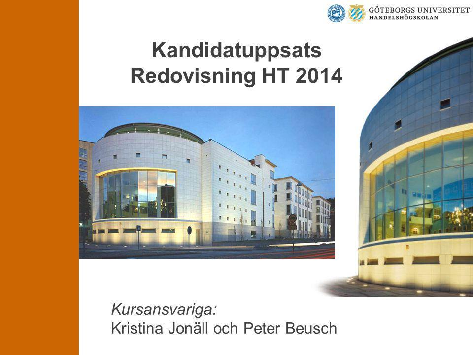 Kandidatuppsats Redovisning HT 2014