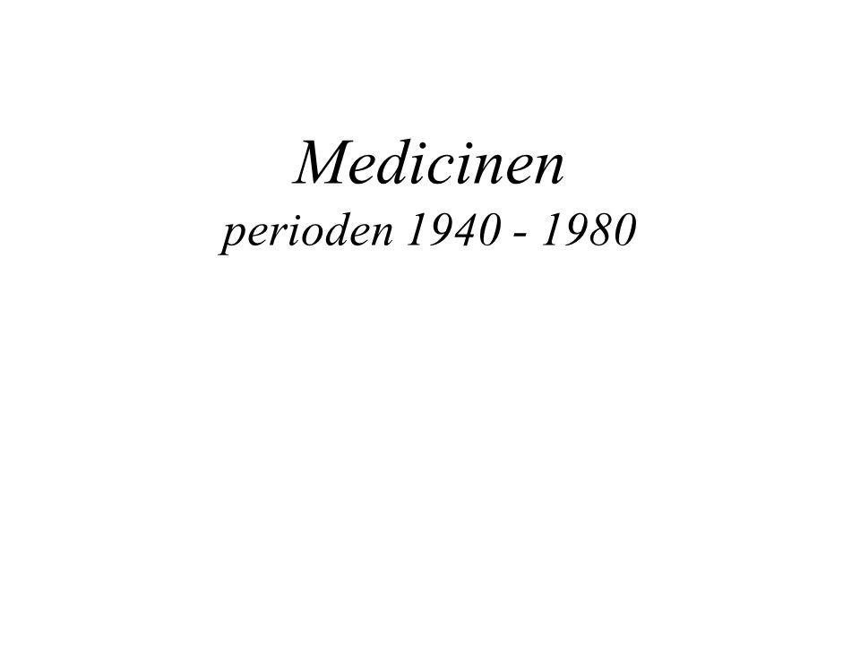 Medicinen perioden 1940 - 1980
