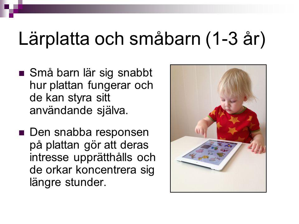 Lärplatta och småbarn (1-3 år)