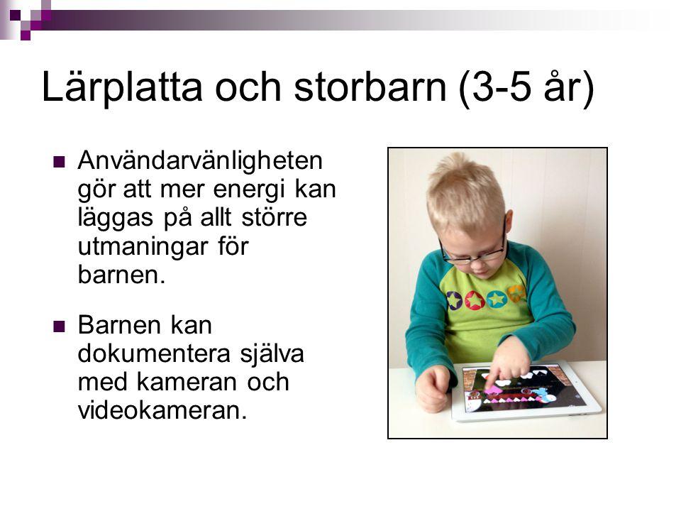 Lärplatta och storbarn (3-5 år)