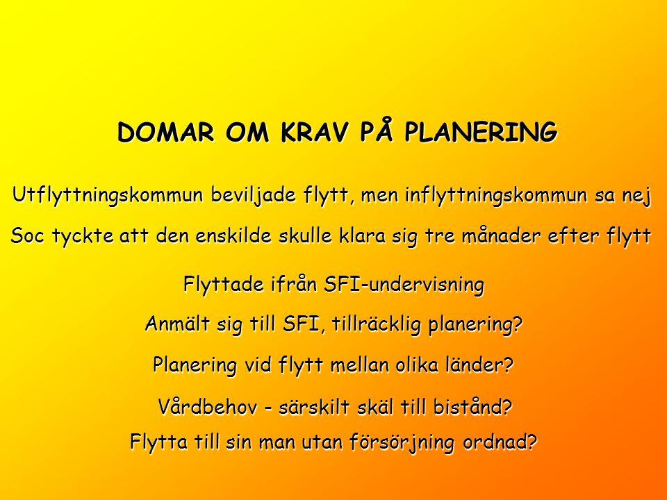 DOMAR OM KRAV PÅ PLANERING