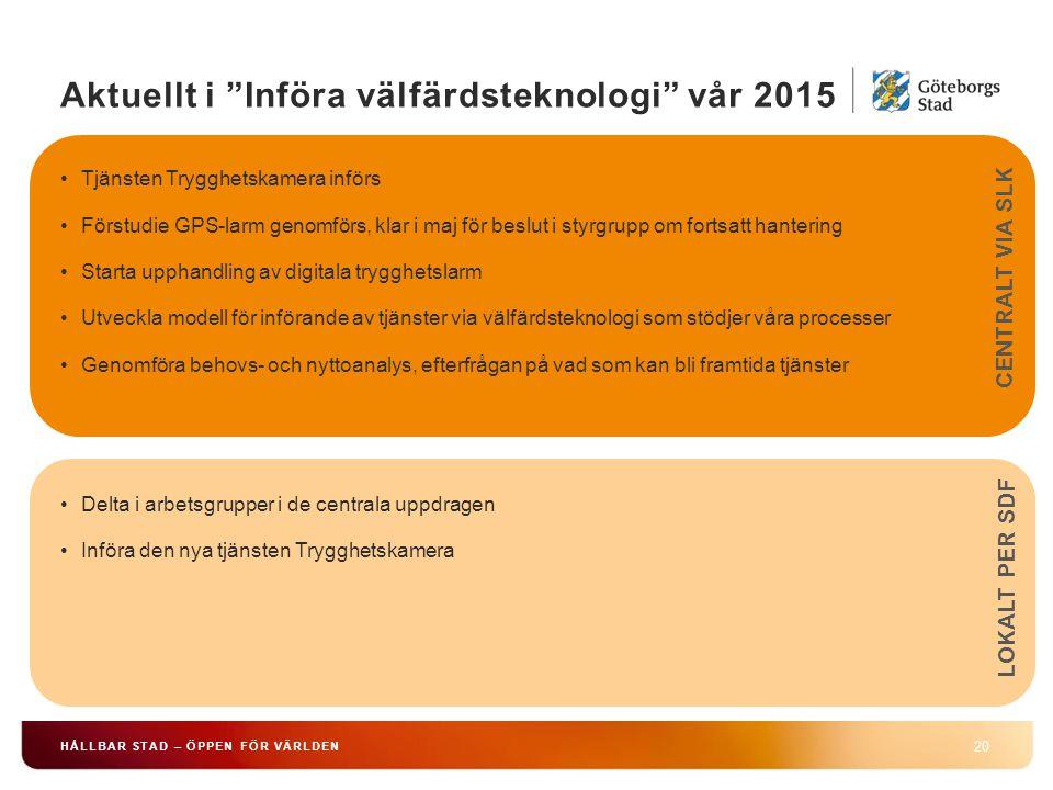 Aktuellt i Införa välfärdsteknologi vår 2015