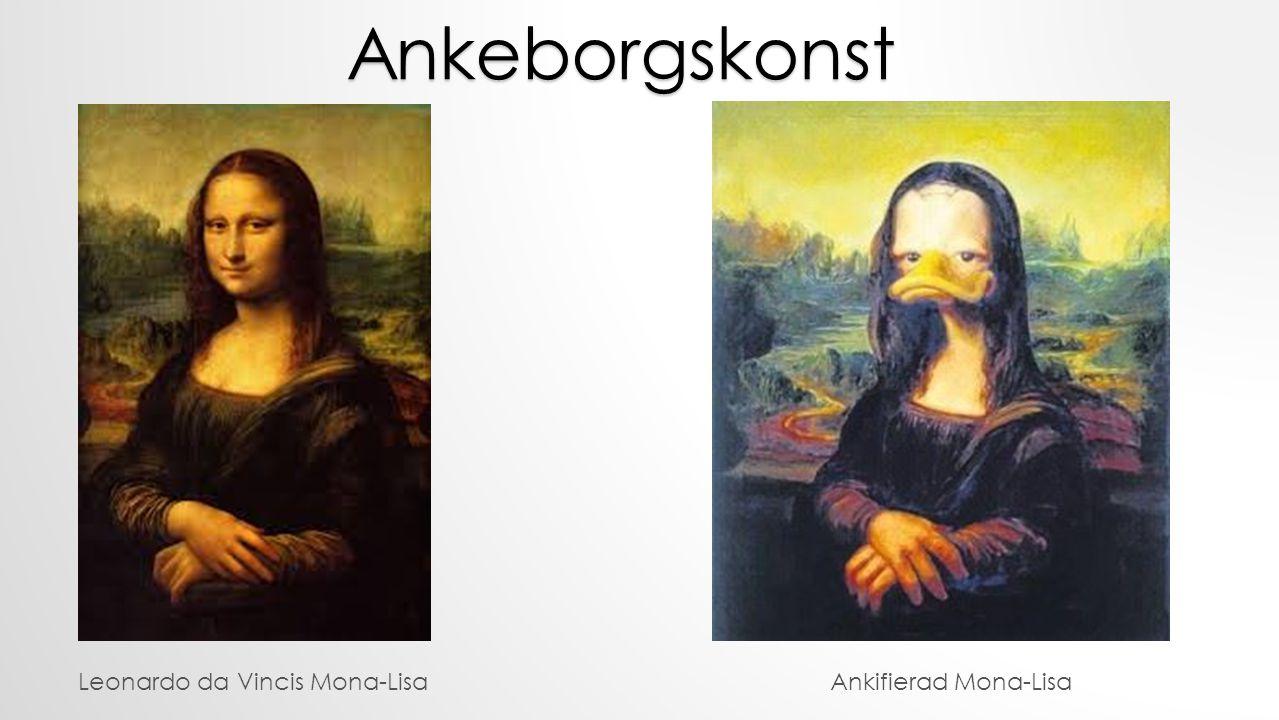 Ankeborgskonst Leonardo da Vincis Mona-Lisa Ankifierad Mona-Lisa