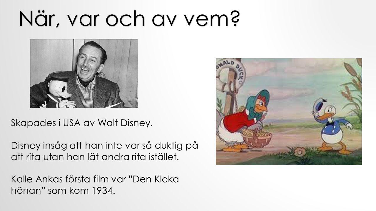 När, var och av vem Skapades i USA av Walt Disney.