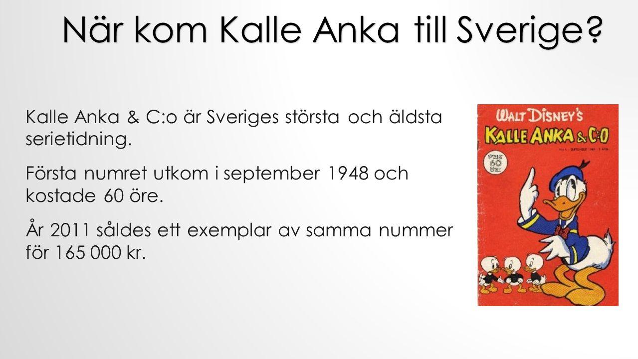 När kom Kalle Anka till Sverige