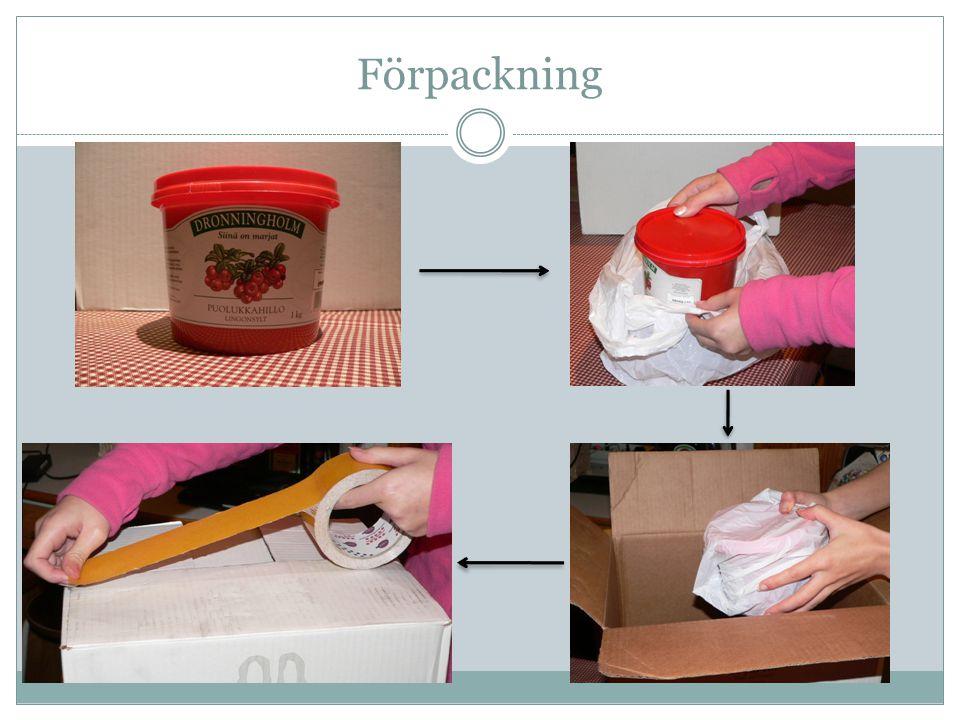 Förpackning passligt stora förpackningar