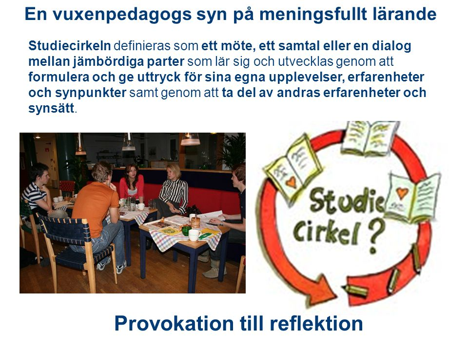 Provokation till reflektion