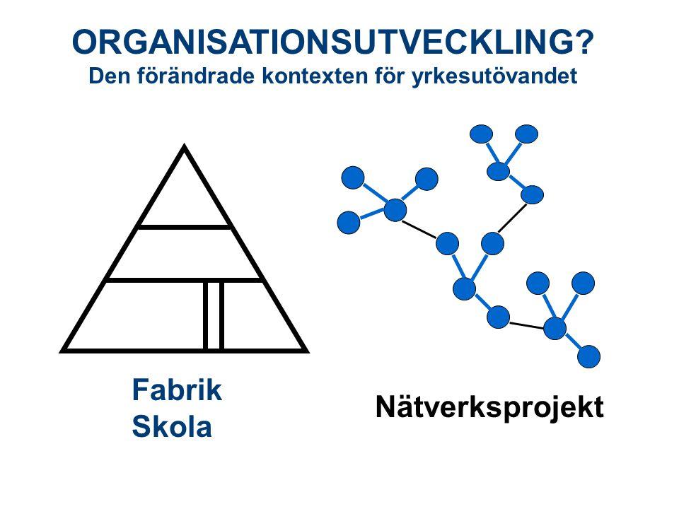 ORGANISATIONSUTVECKLING Den förändrade kontexten för yrkesutövandet