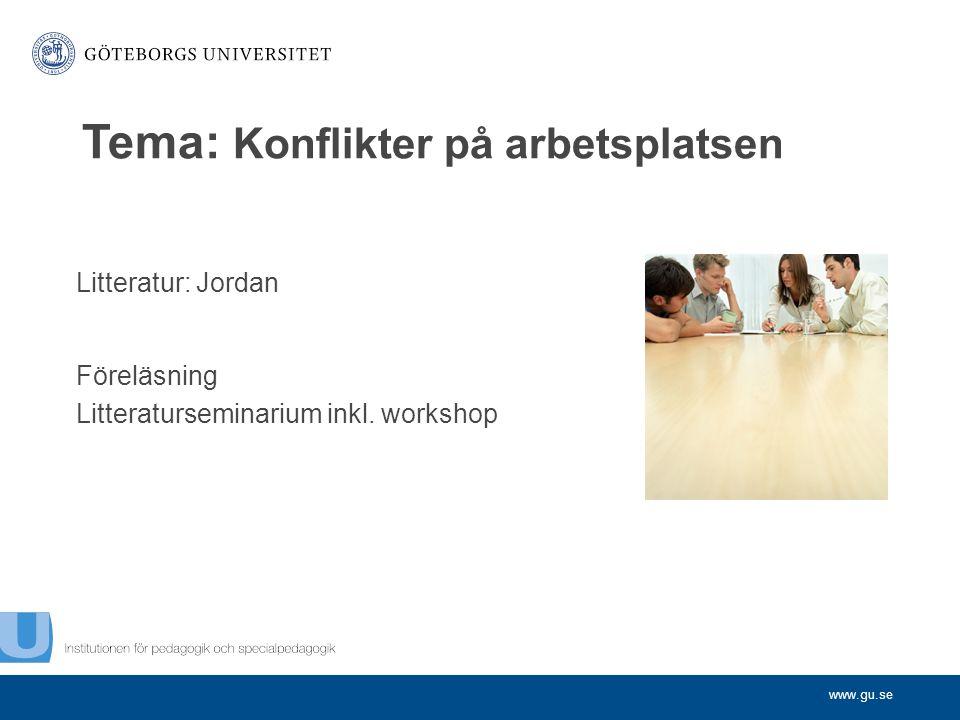 Tema: Konflikter på arbetsplatsen