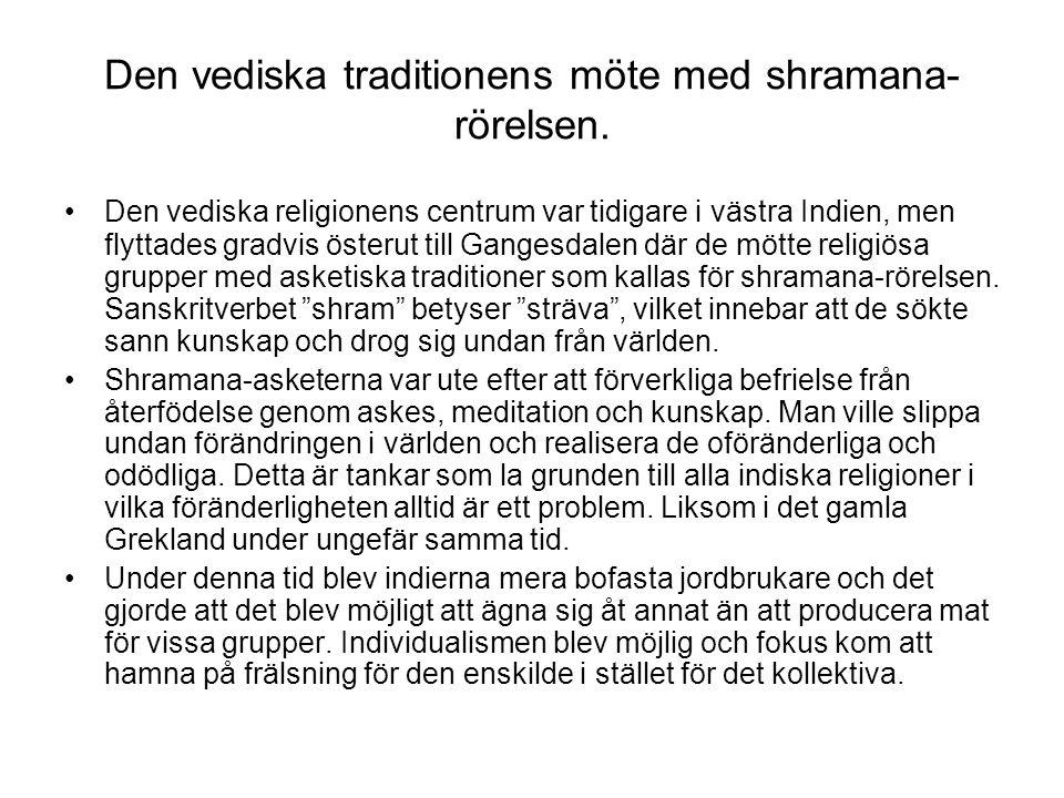 Den vediska traditionens möte med shramana-rörelsen.