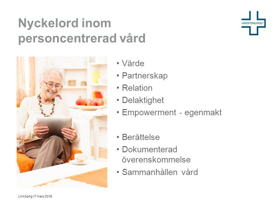 Nyckelord inom personcentrerad vård