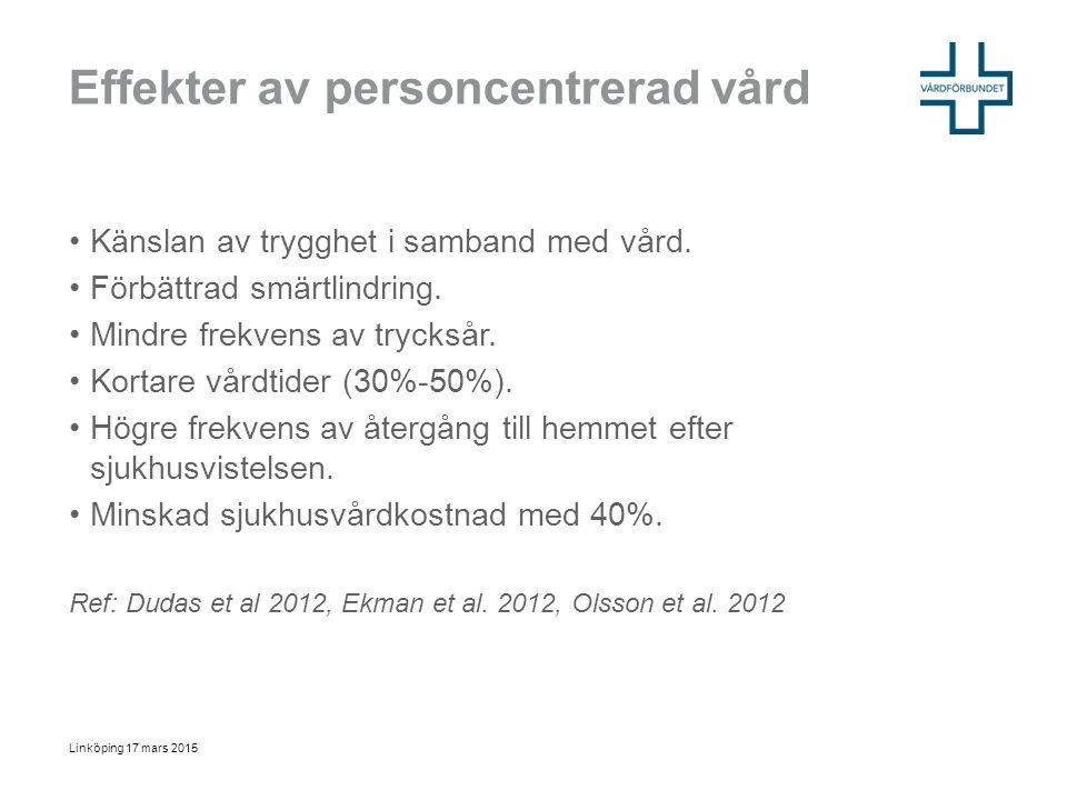 Effekter av personcentrerad vård