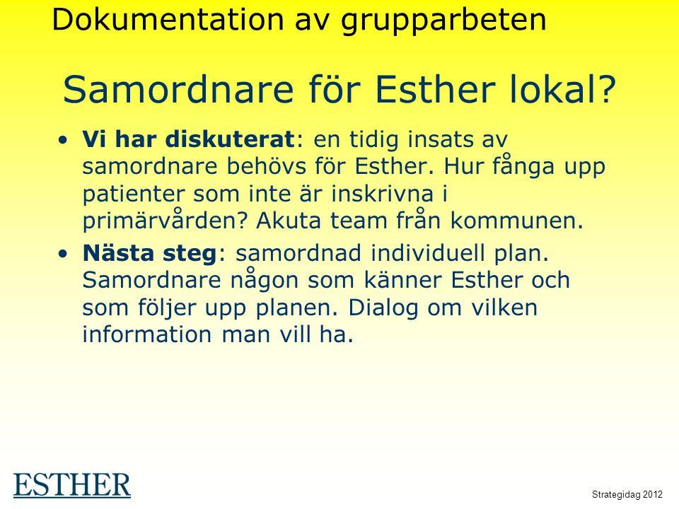 Samordnare för Esther lokal