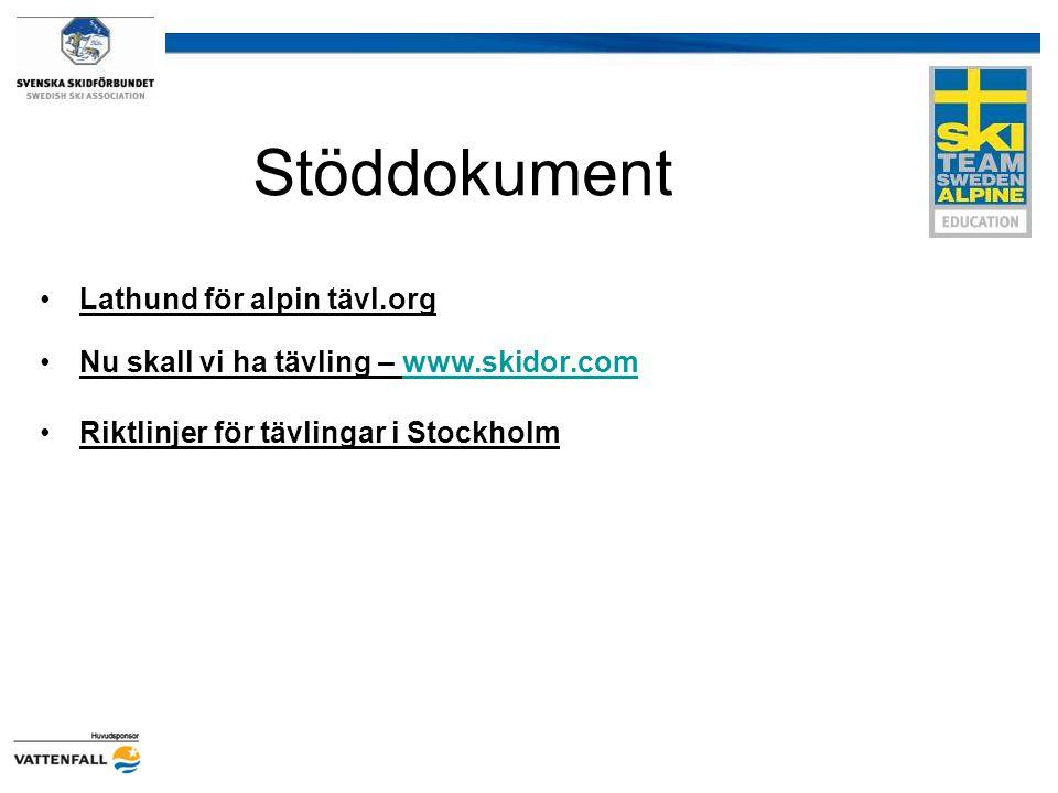 Stöddokument Lathund för alpin tävl.org