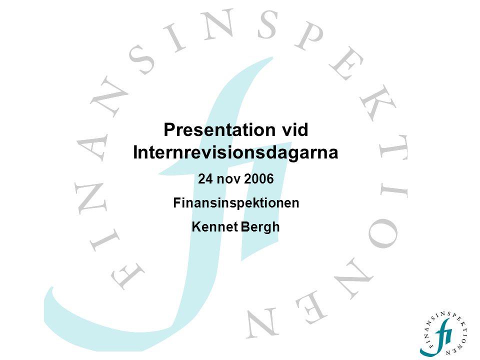 Presentation vid Internrevisionsdagarna
