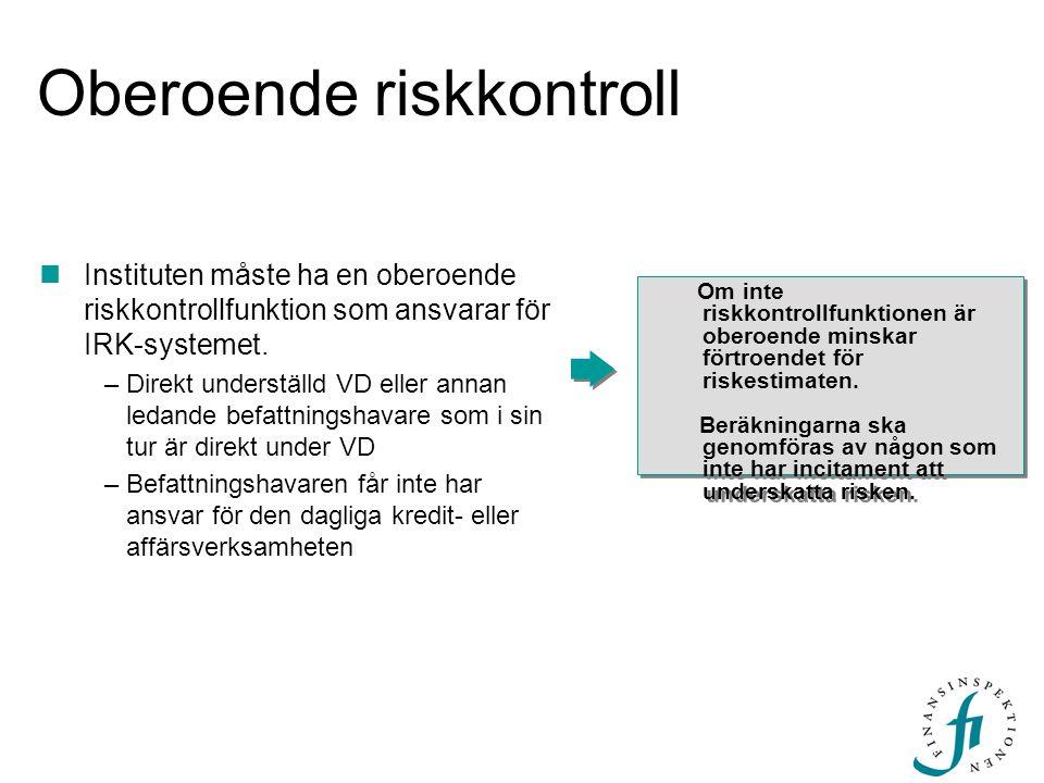 Oberoende riskkontroll