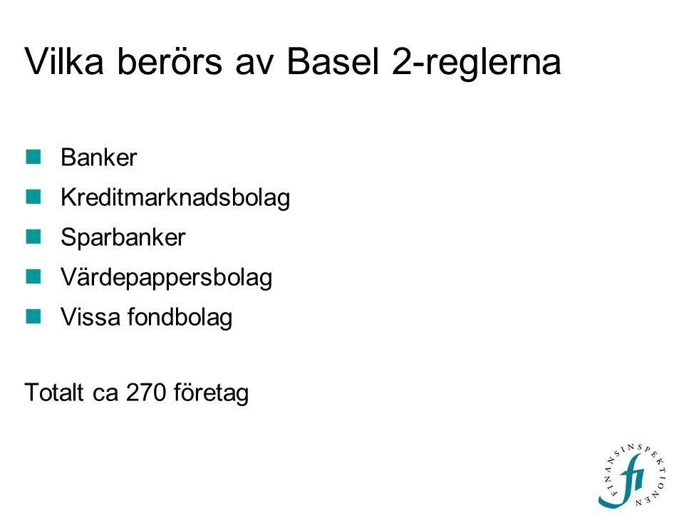 Vilka berörs av Basel 2-reglerna