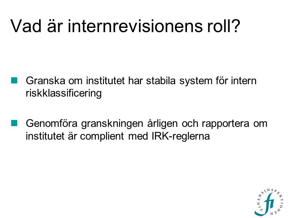 Vad är internrevisionens roll